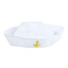 Karnevalová čepice námořník bílá s kotvou dětská