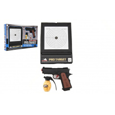Teddies Pistole  plast na kuličky 6mm s terčem v krabici 45x29x5cm