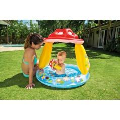 Intex Bazén se stříškou nafukovací baby muchomůrka 102x89cm od 1-3 let