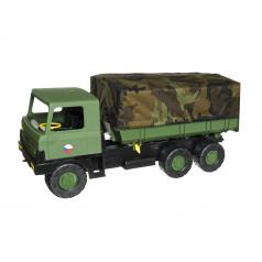 Teddies Auto Tatra 815 plast 75cm vojenská khaki valník s plachtou maskáčový v krabici 75x34x27,5cm