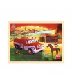 Dino Tatra hasiči 20D dřevěné Puzzle