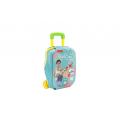Teddies Sada starostlivosti o bábätko + sada doktor plast 19ks v kufri na kolieskach 23x35x11cm