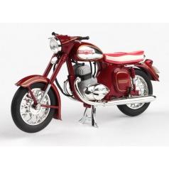 ABREX Jawa 350 Kývačka Automatic (1966) 1:18 - Tmavě Červená