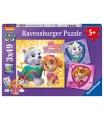 Ravensburger puzzle Tlapková Patrola 3x49 dílků