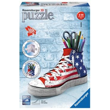 Ravensburger puzzle 3d Kecka - vlajkový design 108 dílků