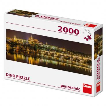 Dino puzle Karlův most v noci 2000D panoramic