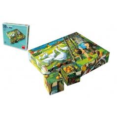 TOPA Kostky kubus Na statku dřevo 20ks v krabičce 20x16x4cm