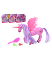 Wiky Jednorožec/kůň s křídly česací s doplňky plast 20 cm 2 barvy v krabičce 25x20x5cm