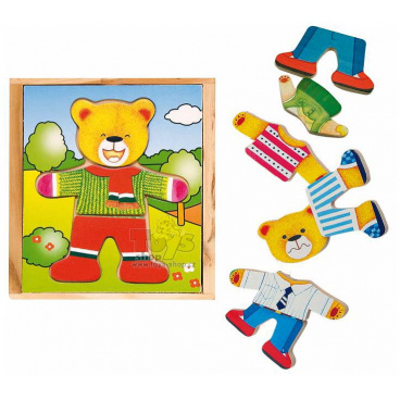 Woody Puzzle šatní skříň malá Medvídek