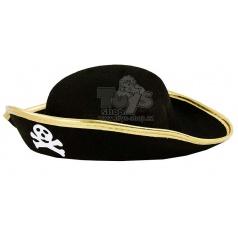 Karnevalový klobouk pirát s lebkou dětský