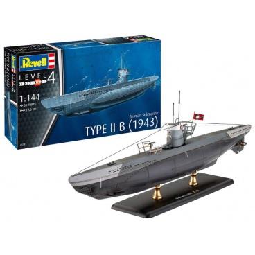 Revell ModelSet ponorka 65155 - German Submarine Type IIB (1943) (1:144)