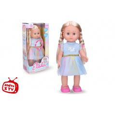 Wiky Eliška chodící panenka 41 cm, modré šaty