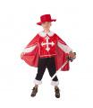 Rappa Dětský kostým mušketýr červený (S)