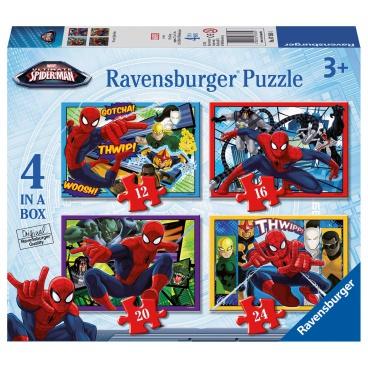 Ravensburger Spiderman Ravensburger dětské puzzle Disney Spider-man 12/16/20/24 dílků