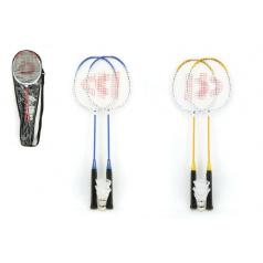 Teddies Badminton sada + 3 košíčky Donnay kov 66cm asst 3 barvy v tašce