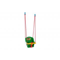 Teddies Houpačka Baby s pískátkem plast zelená nosnost 20kg 35x34x35cm