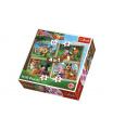 Trefl Puzzle 4v1 Máša a Medvěd Lesní Dobrodružství v krabici 28x28x6cm