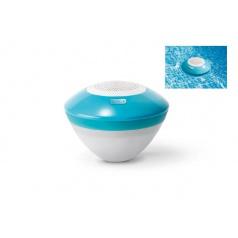 Intex Bazénový vodotěsný reproduktor s led světlem a bluetooth plast dosah 30m