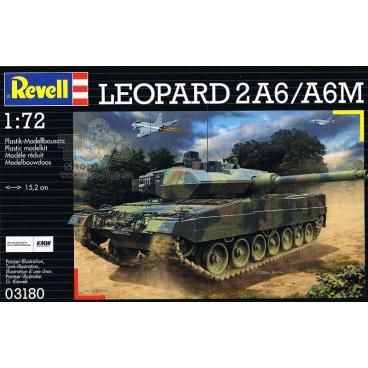 "Revell Plastic ModelKit tank 03180 - ""Leopard"" 2 A6M (1:72)"
