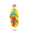 Dolu 100 barevných plastových míčků v síťce - 6cm