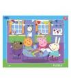 Dino puzzle dětské Peppa Pig:Ve školce 40D deskové