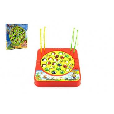Teddies Hra ryby/rybář plast 24 ryb 22x23cm společenská hra na baterie v krabici