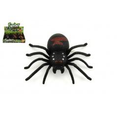 Pavouk na klíček plast 9cm, asst 2 barvy