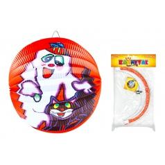 Lampion papírový Halloween koule 25cm