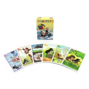 Akim Kvarteto Krtek 1 společenská hra - karty v papírové krabičce 6x9cm