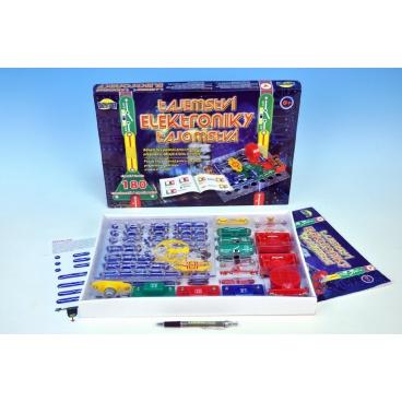 Dromader Tajemství elektroniky 180 experimentů na baterie v krabici 42x28,5x4cm od 6 let