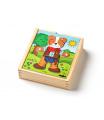 "woody Puzzle šatníková skriňa ""Psík"", 18 dielov"