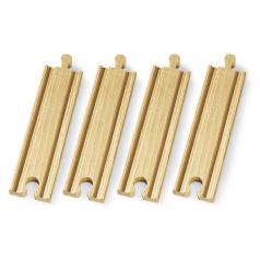 Brio 33335 Střední koleje rovné, 144 mm, 4 ks příslušenství k vláčkodráhám