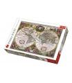 Trefl Puzzle Mapa Světa rok 1630 2000 dílků 96x68cm v krabici 40x27x6cm