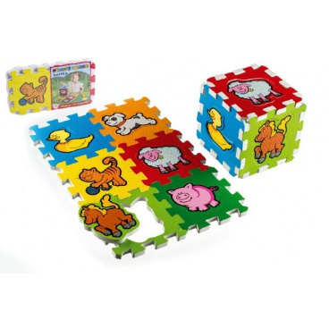 Teddies Pěnové puzzle Moje první zvířátka 15x15x1,2cm 6ks MPZ