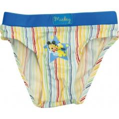 """Chlapecké Baby plavky """"Mickey Mouse"""" proužek, modré, 12 měs. #12 měs."""