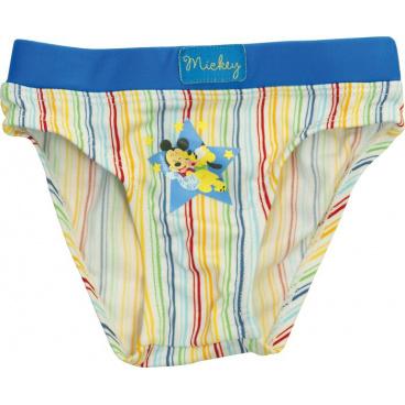 """Licence Only Chlapecké Baby plavky """"Mickey Mouse"""" proužek, modré, 12 měs. #12 měs."""
