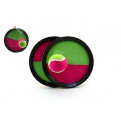 Teddies Lambáda/Catch ball hra s míčkem 19cm v síťce