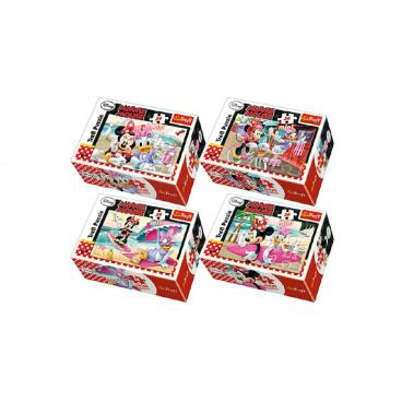 Trefl Minipuzzle Minnie & Daisy  54dílků asst 4 druhy v krabičce 9x6x3cm 40ks v boxu