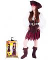 Šaty na karneval pro dospělé - Pirátka karnevalový kostým