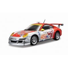 Bburago RACE PORSCE 911GT3 RSR 1:24 stříbro-červené