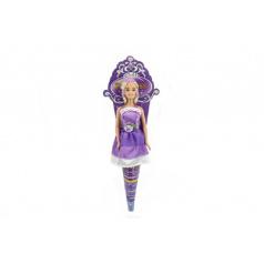 Panenka princezna plast 28cm kloubová v kornoutu