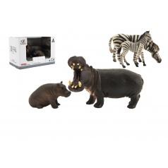 Teddies Zvířátka safari ZOO 11cm sada plast 2ks, 2 druhy