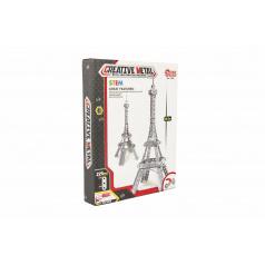 Teddies Stavebnica kovová Eiffelova veža 225 dielikov v krabici 24x31x5cm