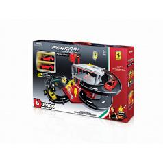 Bburago 1:43 Ferrari Race & Play Parking Garage - 2 autíčka