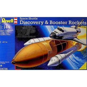 Revell Plastic ModelKit vesmír 04736 - Space Shuttle Discovery+Booster Rockets (1:144)