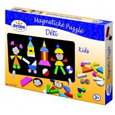 Detoa Děti magnetické dřevěné puzzle
