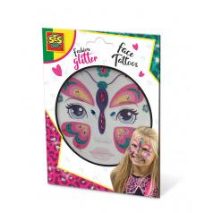 SES Třpytkové tetování na obličej - motýl