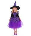 Rappa Dětský kostým čarodějnice fialová čarodějnice/Halloween (M)