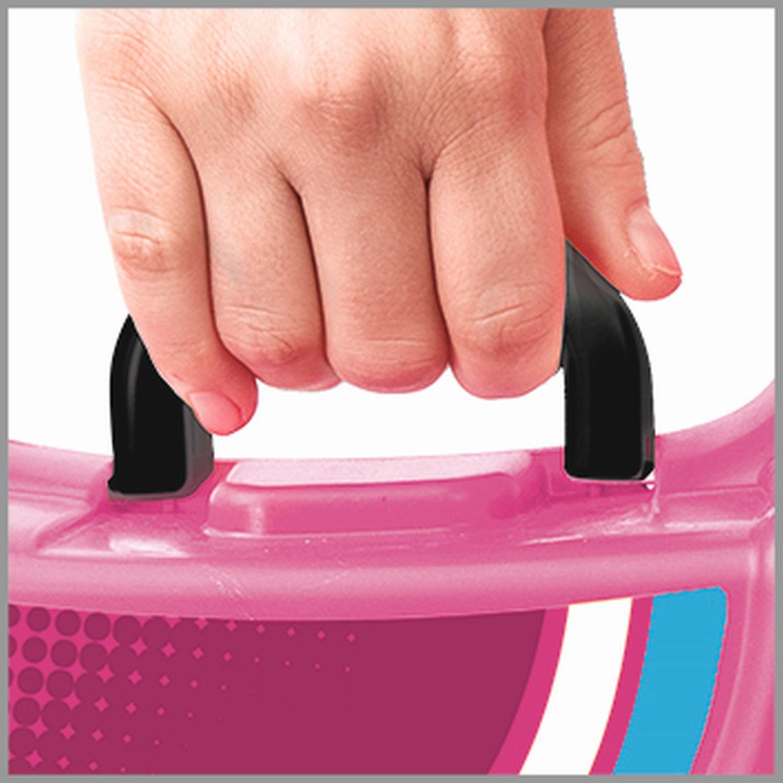 Kufřík odstrkovadlo pejsek růžový s kolečky