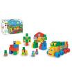 WADER Kostky stavebnice Middle Blocks plast 140ks v krabici 59x35x20cm